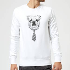 Balazs Solti Suited And Booted Bulldog Sweatshirt - White