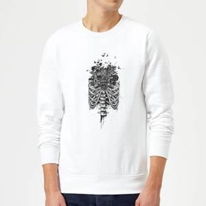 Balazs Solti Ribcage And Flowers Sweatshirt - White