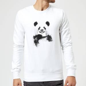 Balazs Solti Moustache And Panda Sweatshirt - White