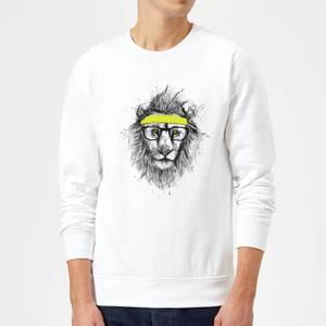 Balazs Solti Lion And Sweatband Sweatshirt - White
