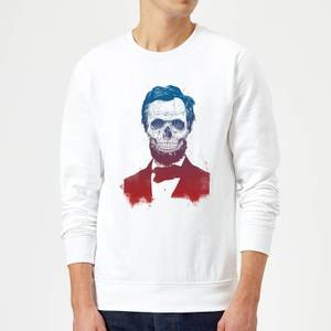 Balazs Solti Suited And Booted Skull Sweatshirt - White