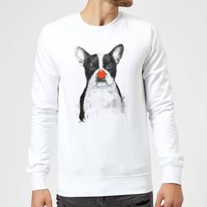 Balazs Solti Red Nosed Bulldog Sweatshirt - White