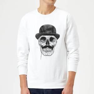 Balazs Solti Monocle Skull Sweatshirt - White