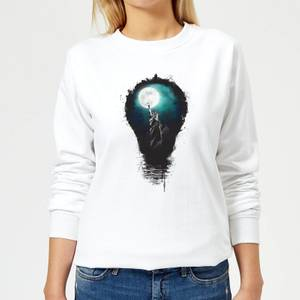 NYC Moon Women's Sweatshirt - White