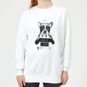 Winter Is Boring Women's Sweatshirt - White