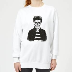 Cool Skull Women's Sweatshirt - White