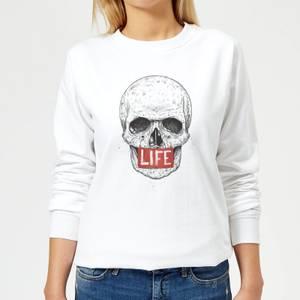Life Skull Women's Sweatshirt - White