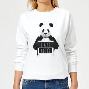 I Need Color Women's Sweatshirt - White