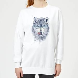 Wolf Eyes Women's Sweatshirt - White