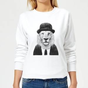 Monocle Lion Women's Sweatshirt - White