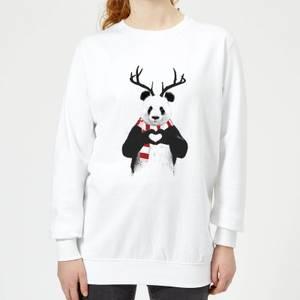 Winter Panda Women's Sweatshirt - White