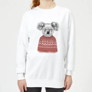 Koala And Jumper Women's Sweatshirt - White