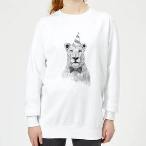 Party Lion Women's Sweatshirt - White