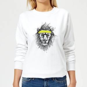 Lion And Sweatband Women's Sweatshirt - White