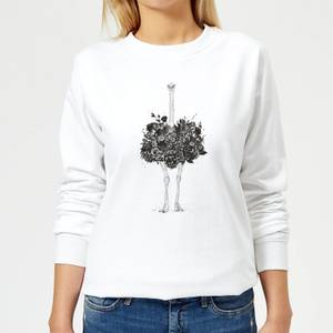 Ostrich Women's Sweatshirt - White