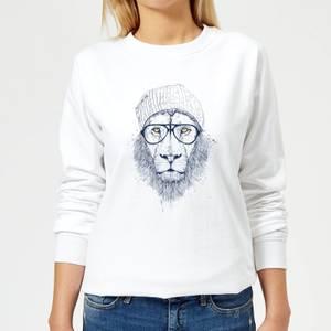 Lion Women's Sweatshirt - White