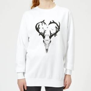 Antlers Women's Sweatshirt - White