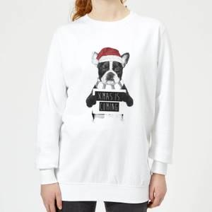 Xmas Is Coming Women's Sweatshirt - White