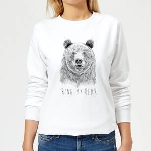 Ring My Bear Women's Sweatshirt - White