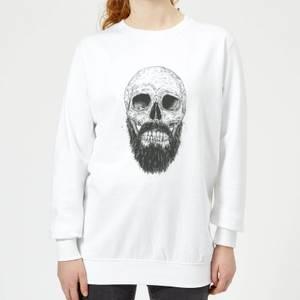 Bearded Skull Women's Sweatshirt - White