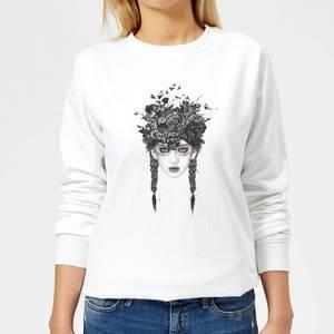 Native Girl Women's Sweatshirt - White