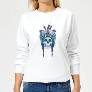 Bear Head Women's Sweatshirt - White
