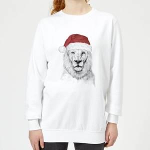 Balazs Solti Santa Lion Women's Sweatshirt - White