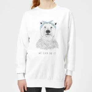 We Can Do It Women's Sweatshirt - White