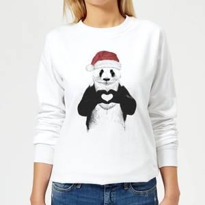 Santa Bear Women's Sweatshirt - White