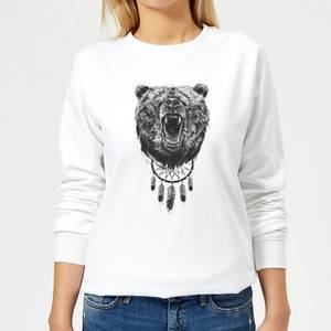 Dreamcatcher Bear Women's Sweatshirt - White