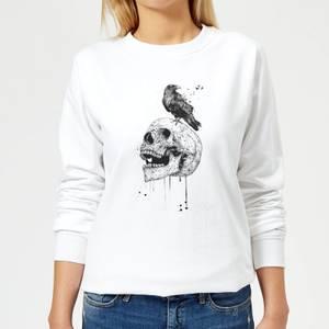 Skull And Crow Women's Sweatshirt - White