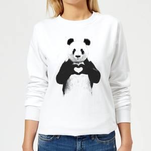 Panda Love Women's Sweatshirt - White