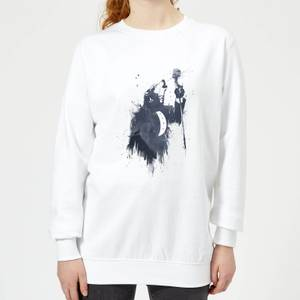 Singing Wolf Women's Sweatshirt - White