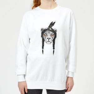 Native Lion Women's Sweatshirt - White