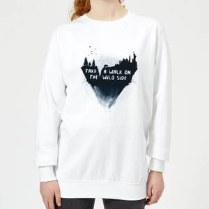 Take A Walk On The Wild Side Women's Sweatshirt - White
