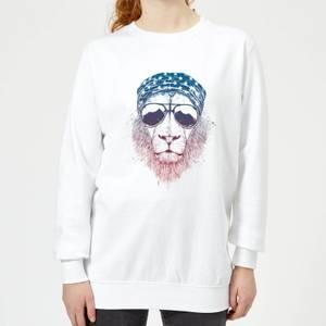 Bandana Lion Women's Sweatshirt - White