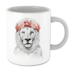 Balazs Solti Lion And Flowers Mug