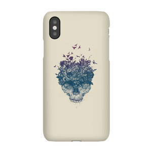Balazs Solti Skulls And Flowers Phone Case for iPhone and Android