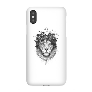 Balazs Solti Lion And Flowers Phone Case for iPhone and Android