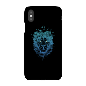 Balazs Solti Lion And Butterflies Phone Case for iPhone and Android