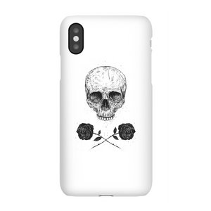 Balazs Solti Skull And Roses Phone Case for iPhone and Android
