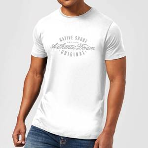 Native Shore Authentic Denim Men's T-Shirt - White