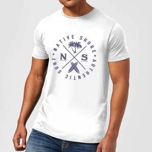 Native Shore Authentic Surf Circle Men's T-Shirt - White