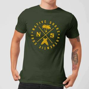 T-Shirt Homme Authentic Surf Circle Native Shore - Vert