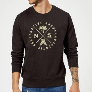 Native Shore Authentic Surf Circle Sweatshirt - Black