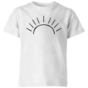My Little Rascal Sun Linework Kids' T-Shirt - White