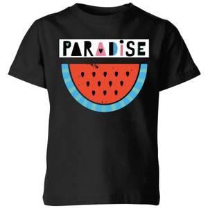 My Little Rascal Paradise Kids' T-Shirt - Black