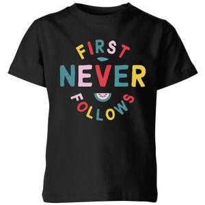 My Little Rascal First Never Follows Kids' T-Shirt - Black