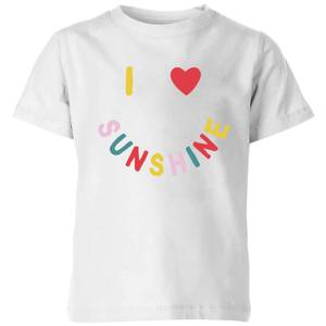 My Little Rascal I Love Sunshine Kids' T-Shirt - White