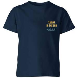 My Little Rascal Sailor In The Sun Kids' T-Shirt - Navy